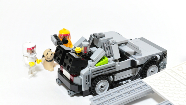 Bttf Doc Brown S Gmc Value Van With Small Delorean On
