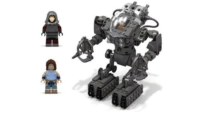 Legend of Korra: Mecha Tank, Korra, Amon, Hiroshi, & Supporter's Choice
