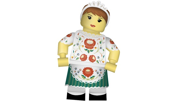 Minifigure in 'Kalocsai' folk wear