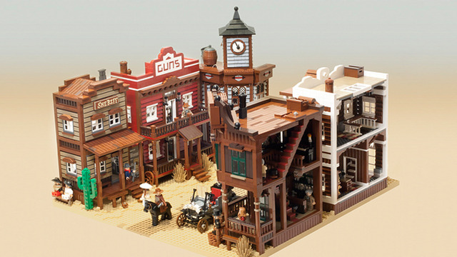 Modular Western Town by mb_bricks