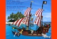 Pirate Ship working rudder, crane, cannon by technic parts