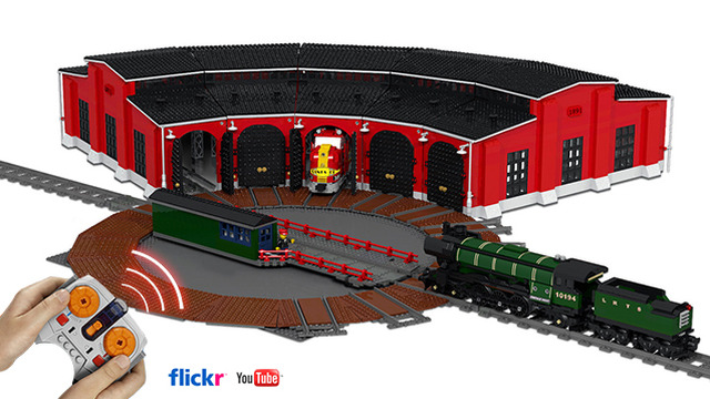 Cuusoo Of The Week Train Turntable And Modular Roundhouse